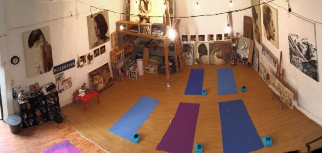 Yoga in the Artist Studio