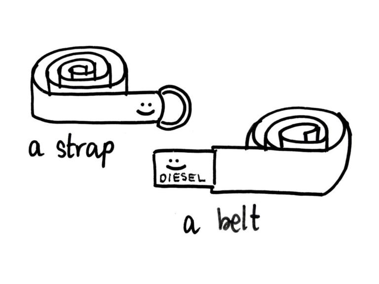 a strap or a belt