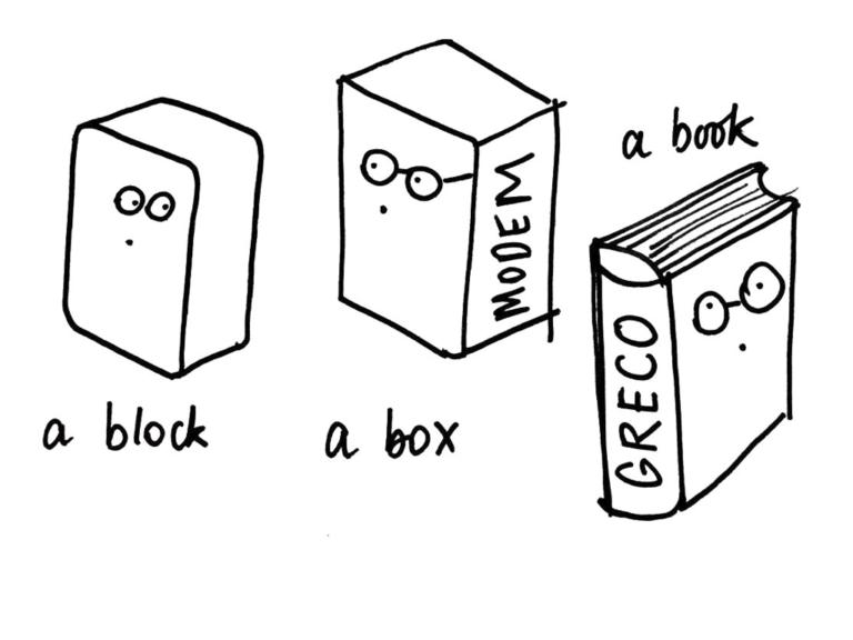 a block or book